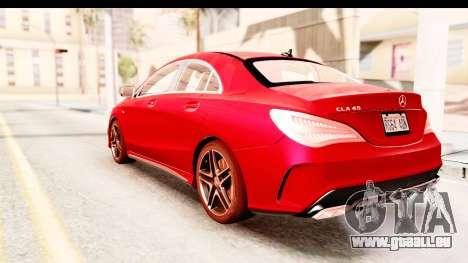 Mercedes-Benz CLA45 AMG 2014 pour GTA San Andreas laissé vue