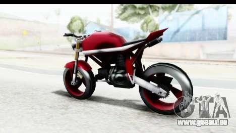 Custom Stunt FCR9000 für GTA San Andreas zurück linke Ansicht