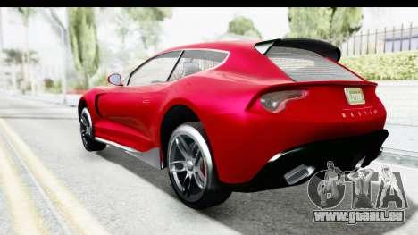 GTA 5 Grotti Bestia GTS with MipMap IVF pour GTA San Andreas laissé vue