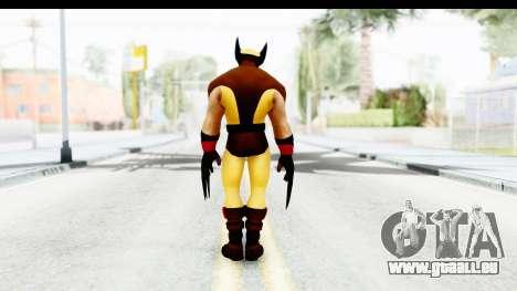Marvel Heroes - Wolverine Brown pour GTA San Andreas troisième écran