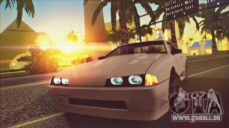 Elegy Drophead pour GTA San Andreas vue de droite
