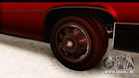 GTA 5 Albany Emperor IVF pour GTA San Andreas vue arrière