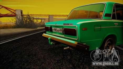 VAZ 2106 Shaherizada GVR pour GTA San Andreas laissé vue