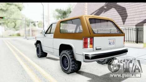 Ford Bronco from Bully für GTA San Andreas linke Ansicht