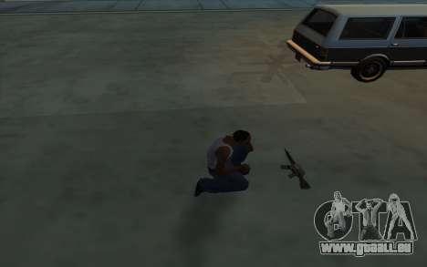 La Possession d'armes pour GTA San Andreas troisième écran