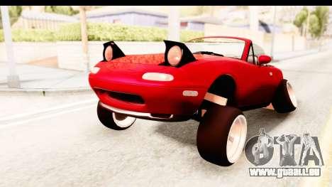 Mazda Miata with Crazy Camber pour GTA San Andreas vue de droite