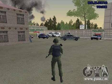 Le conducteur de la MIA pour GTA San Andreas troisième écran