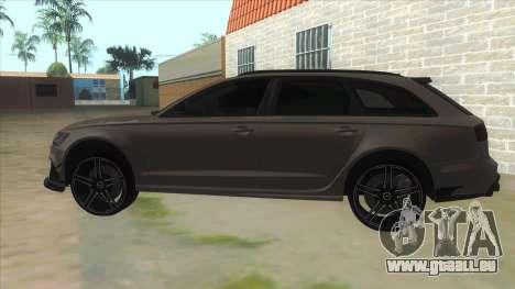 Audi RS6-R pour GTA San Andreas laissé vue
