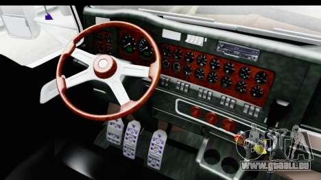 Kenworth T800 Centenario Studio Sleeper Toys pour GTA San Andreas vue intérieure