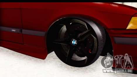 BMW M3 E36 Spermatozoid Edition pour GTA San Andreas vue arrière