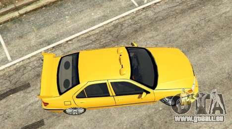 Taxi Peugeot 406 v1.0 pour GTA 5