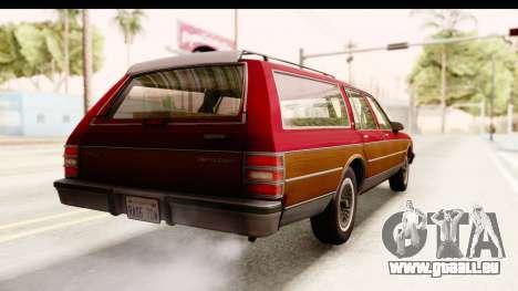 Chevrolet Caprice 1989 Station Wagon IVF für GTA San Andreas zurück linke Ansicht
