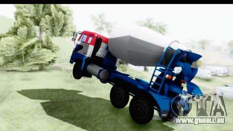 Nissan Diesel UD Big Thumb Cement Babena pour GTA San Andreas sur la vue arrière gauche