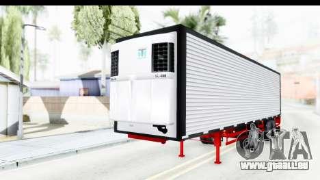 Trailer with Axle pour GTA San Andreas vue de droite