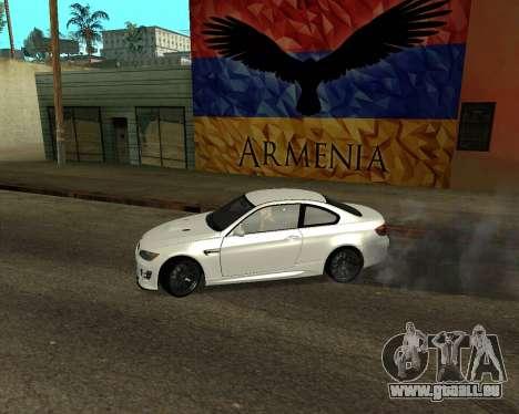 BMW M3 Armenian pour GTA San Andreas sur la vue arrière gauche