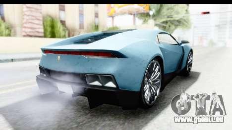 GTA 5 Pegassi Reaper v2 SA Lights für GTA San Andreas zurück linke Ansicht
