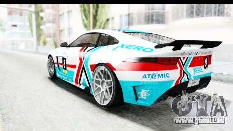 GTA 5 Ocelot Lynx SA Lights für GTA San Andreas obere Ansicht