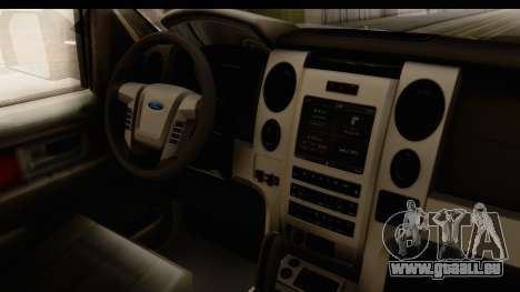 Ford F-150 Tuning pour GTA San Andreas vue intérieure
