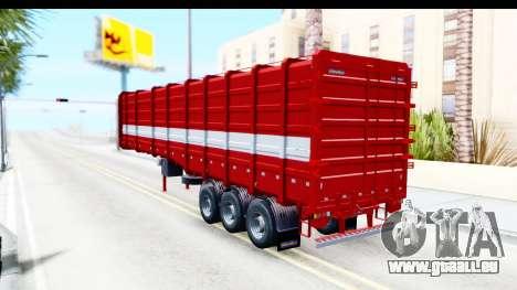 Trailer Cargo pour GTA San Andreas laissé vue