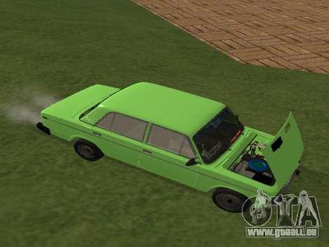 VAZ 2106 pour GVR pour GTA San Andreas sur la vue arrière gauche