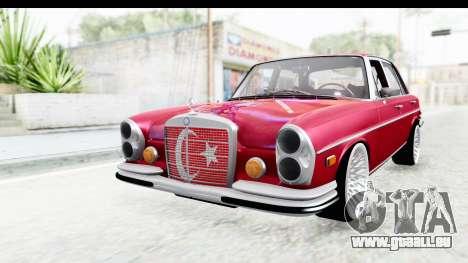 Mercedes-Benz 300SEL für GTA San Andreas zurück linke Ansicht