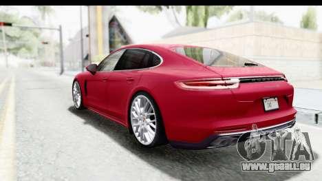 Porsche Panamera 4S 2017 v2 pour GTA San Andreas laissé vue