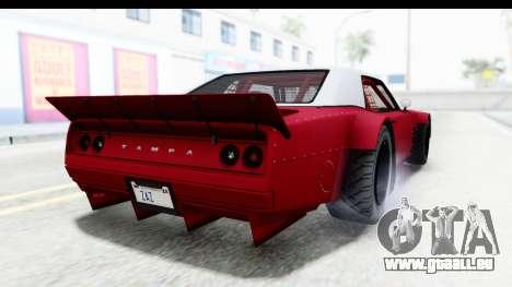 GTA 5 Declasse Drift Tampa IVF pour GTA San Andreas laissé vue
