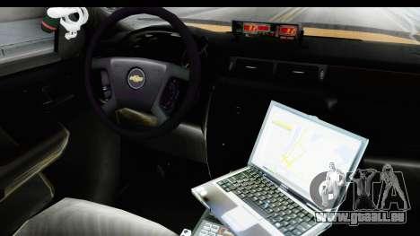 Chevrolet Silvedaro Basarnas pour GTA San Andreas vue intérieure