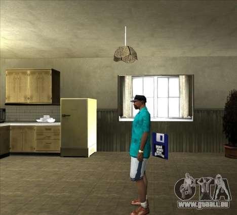 Chemise Tommy pour GTA San Andreas troisième écran