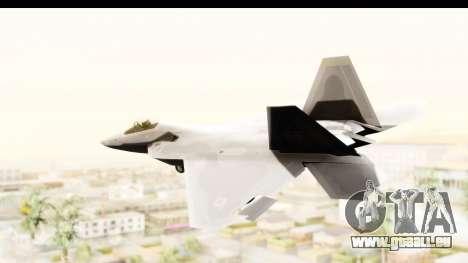 Lockheed Martin F-22 Raptor pour GTA San Andreas laissé vue