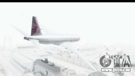 Boeing 777-200LR Qatar Airways für GTA San Andreas linke Ansicht