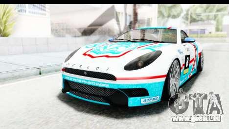 GTA 5 Ocelot Lynx SA Lights für GTA San Andreas Seitenansicht