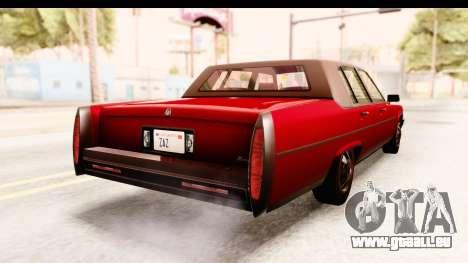 GTA 5 Albany Emperor IVF pour GTA San Andreas sur la vue arrière gauche