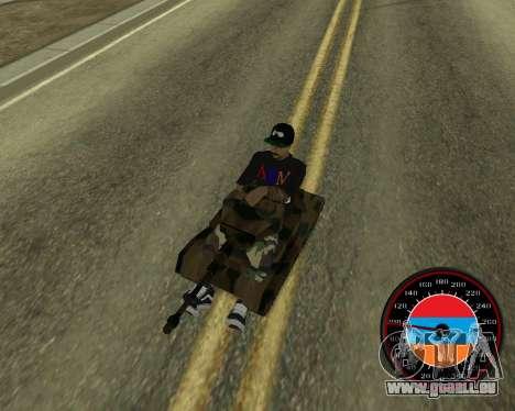Der Tacho im Stil der Armenischen Flagge V 2.0 für GTA San Andreas sechsten Screenshot