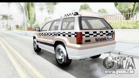 GTA 5 Canis Seminole Taxi Saints Row 4 pour GTA San Andreas vue de droite