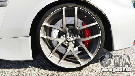 GTA 5 Nissan 370Z Nismo Z34 2016 [replace] arrière droit vue de côté