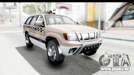 GTA 5 Canis Seminole Taxi Saints Row 4 pour GTA San Andreas sur la vue arrière gauche