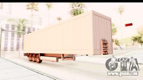 Trailer ETS2 v2 Nr. 2 pour GTA San Andreas vue de droite