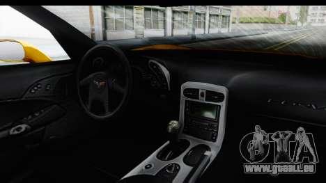 NFS Carbon Chevrolet Corvette pour GTA San Andreas vue intérieure