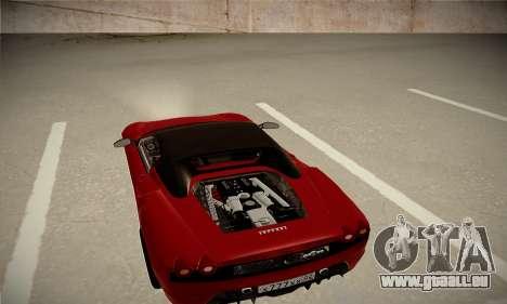 Ferrari F430 Spider für GTA San Andreas zurück linke Ansicht