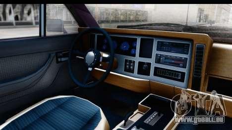 Jeep Grand Wagoneer für GTA San Andreas Rückansicht