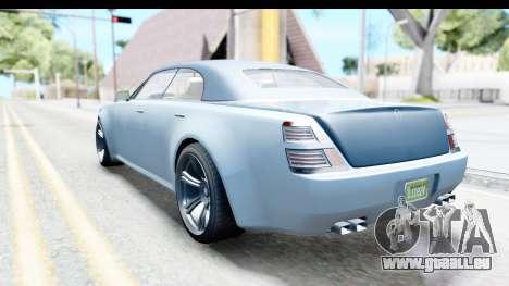 GTA 5 Enus Windsor Drop IVF für GTA San Andreas linke Ansicht