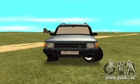 Land Rover Discovery 2B pour GTA San Andreas vue arrière