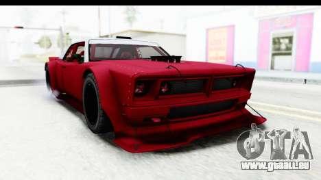 GTA 5 Declasse Drift Tampa IVF pour GTA San Andreas sur la vue arrière gauche