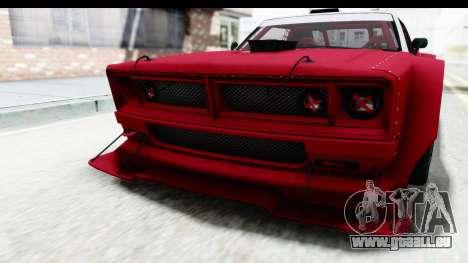 GTA 5 Declasse Drift Tampa IVF pour GTA San Andreas vue de dessous