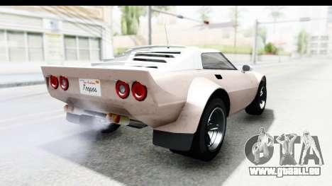 GTA 5 Lampadati Tropos SA Lights pour GTA San Andreas laissé vue