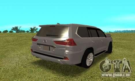 Lexus LX570 für GTA San Andreas rechten Ansicht
