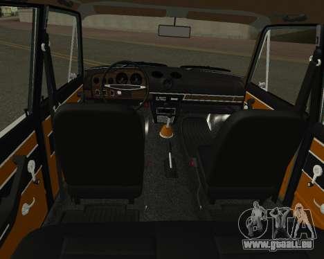 VAZ 2103 arménien pour GTA San Andreas vue de dessus