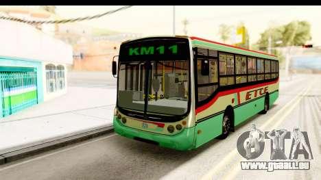 Metalpar Tronador 2 Puertas ETCE GTA Micros Arg pour GTA San Andreas