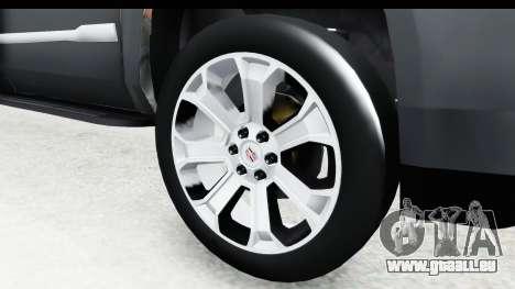 Cadillac Escalade 2016 pour GTA San Andreas vue arrière